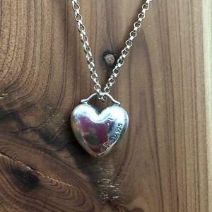 Rare Tiffany Puffy Heart Pendant